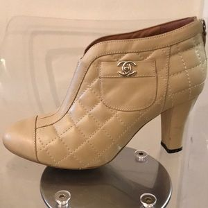 CHANEL Shoes - CHANEL quilted booties